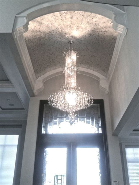 Vaulted Ceiling   Silver Leaf Glided Finish   Contemporary