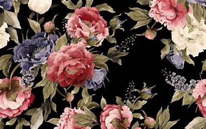 Floral Background Flowers Retro Texture Peonies Desktop