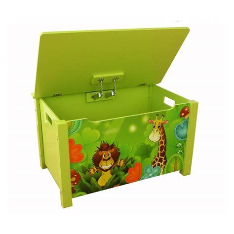 coffre 224 jouets en bois meuble chambre enfant motif jungle