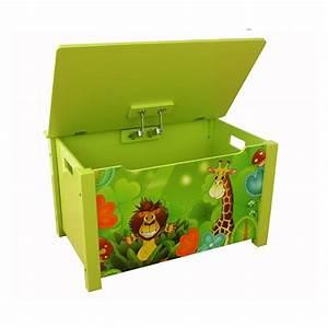 Coffre Jouet Enfant : coffre jouets en bois meuble chambre enfant motif jungle 71x52x46 cm ape06037 d coshop26 ~ Teatrodelosmanantiales.com Idées de Décoration