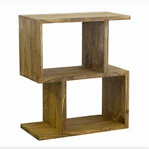 Small Zig Zag Bookcase Natural Timber Furniture Loft