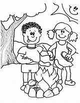 Camping Coloring Pages Printable Boy Getdrawings Camp Summer Getcolorings Doghousemusic Pag sketch template