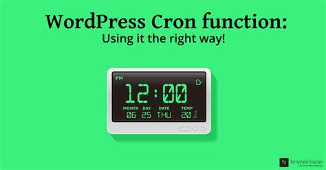 Wordpress Cron Function  Templatetoaster Blog