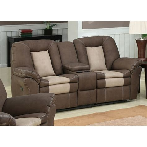 carson dual reclining loveseat with storage console ebay