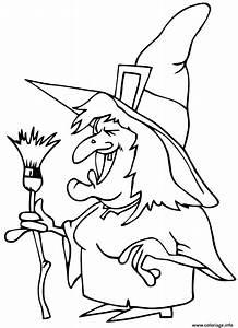 Dessin Qui Fait Tres Peur : coloriage affreuse sorciere qui fait peur halloween ~ Carolinahurricanesstore.com Idées de Décoration