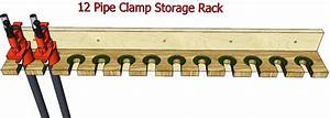 Pipe Clamp Storage #031 - 3D Woodworking Plans