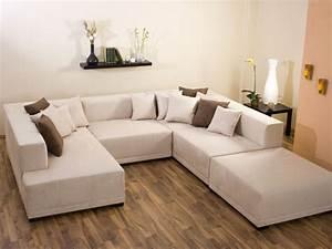 Canapé D Angle Xl : canap d 39 angle tissu u mat xl 9 10 places chocolat 25925 ~ Teatrodelosmanantiales.com Idées de Décoration