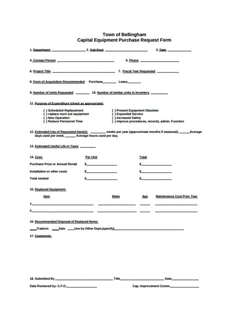 equipment requisition forms   ms word excel