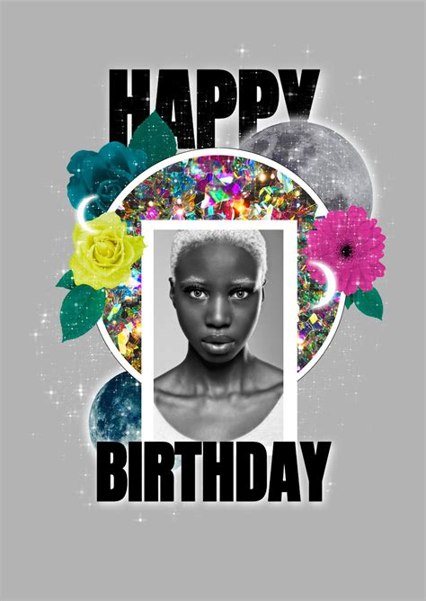 photo collage birthday greeting card template mediamodifier