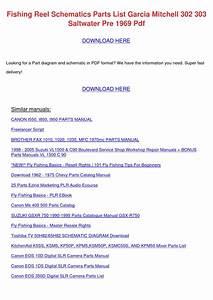 Fishing Reel Schematics Parts List Garcia Mit By