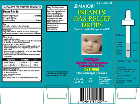 Dailymed Infants Gas Relief Simethicone Suspension Drops