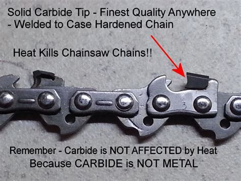 """SOLID Carbide Chainsaw 16"""" Chain 56 Link Type 91 Fits"""