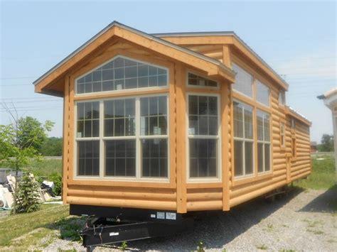 log cabin trailer homes 2012 breckenridge log cabin model park model trailers