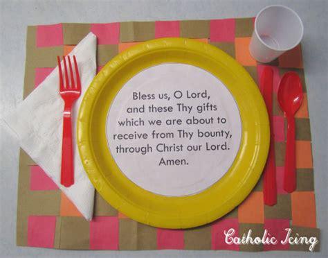 grace before meals craft for 111 | catholic dinner prayer craft for kids