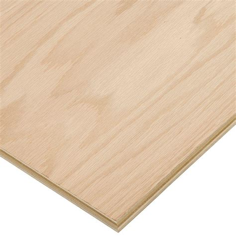 oak veneer sheets home depot columbia forest products 3 4 in x 4 ft x 8 ft purebond red oak plywood fsc certified 332733