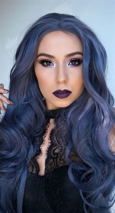 Hair Blue by Win Your Hairs Adorning Stares By Coloring Them Blue