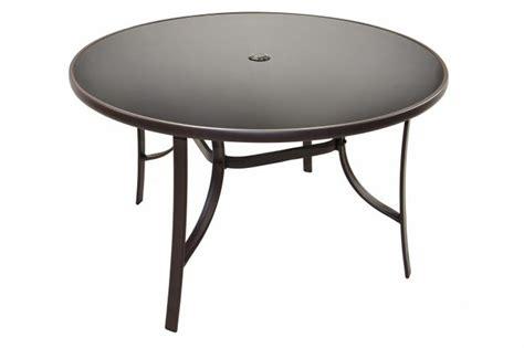 gartentisch mit schirmloch gartentisch glasplatte mit schirmloch bistrotisch glastisch 120 cm runder tisch kaufen bei