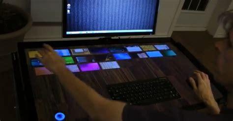 le de bureau tactile exodesk le bureau tactile de 40 pouces de exopc