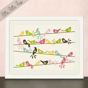 25 best baby girl nursery images on pinterest baby girl With kitchen cabinets lowes with bird nursery wall art