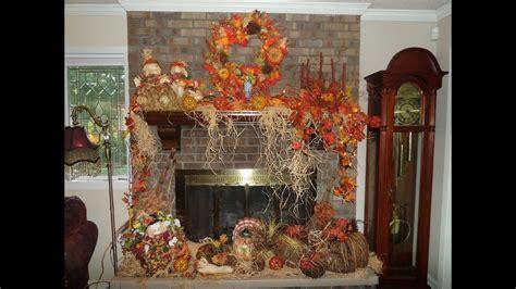decorate  mantel  fireplace  fall youtube