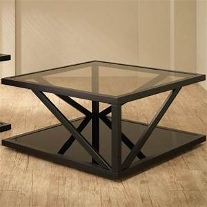 square black coffee table with glass top by coaster With black square coffee table with glass top
