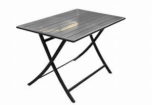 Table Exterieur Pliante : table pliante exterieur mobilier de jardin en aluminium maison email ~ Teatrodelosmanantiales.com Idées de Décoration