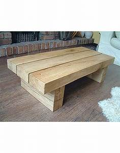 natural solid light oak 3 beam coffee table hand made oak With oak beam coffee table