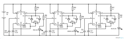 Rgb Led Bulb Circuit Diagram Using Timer Ics