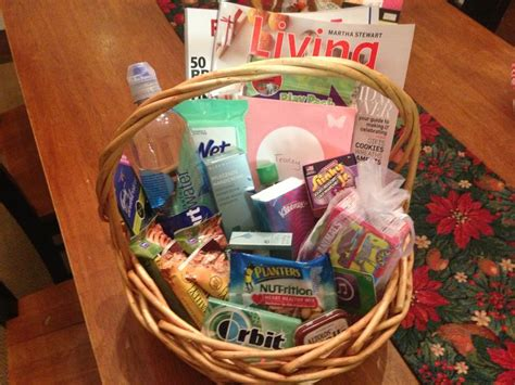 newnursing mom gift basket magazines snacks gummints