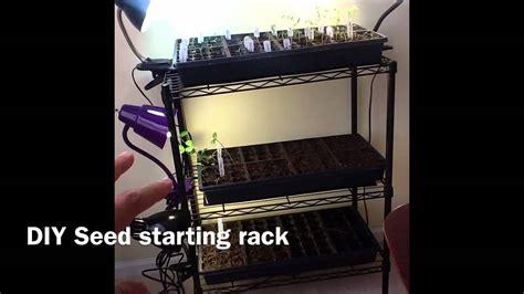 Starting Seeds Indoors (diy Seed Starting Rack)
