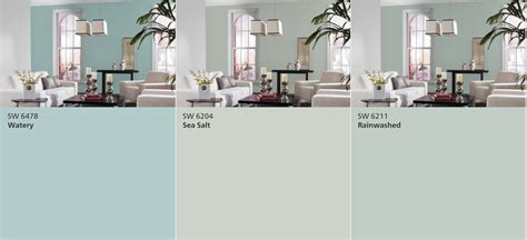 rainwashed paint color sherwin williams watery vs sea salt vs rainwashed real
