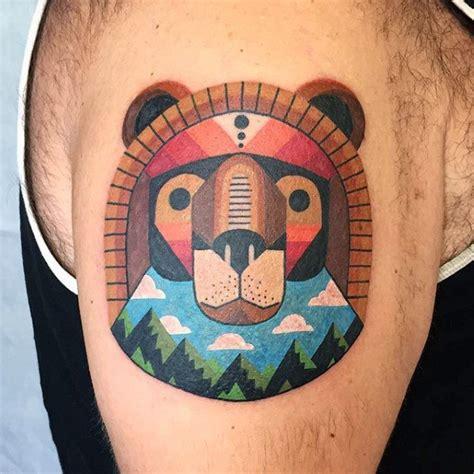 small colorful tattoos  men vivid ink design ideas