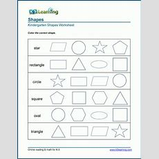Identifying 2dimensional Shapes Worksheets  K5 Learning