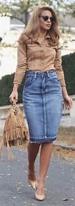 25+ best ideas about Denim Skirts on Pinterest | Denim ...