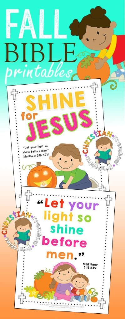 halloween harvest bible printables christian preschool