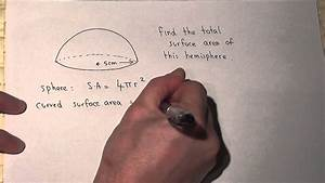 The Curved Surface Area Of A Hemisphere