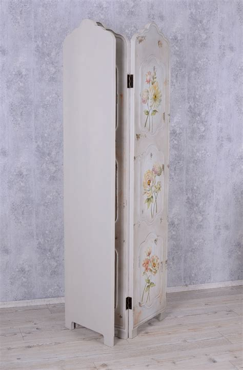 shabby chic room dividers paravent shaby chic room divider roses spanish wall privacy ebay