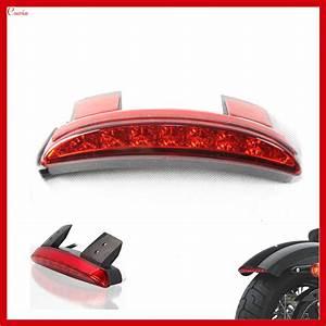 New universal motorcycle red rear fender led tail light brake stop for harley davidson