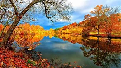 Fall Desktop Mountain Autumn Mountains Lake Sunny
