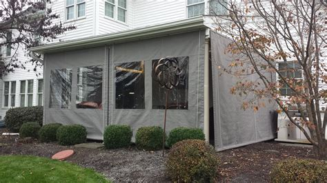 porch enclosure clear vinyl drop curtains lancaster pa