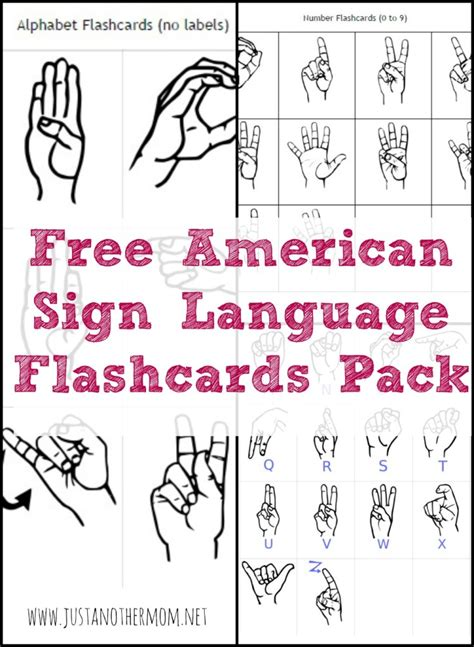 language for printable free sign language printables and resources