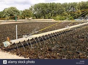 Sewage Treatment Plant Works The Rotating Arm Pours Sewage