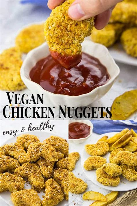 A) a lump of fried chicken in which the entire kfc franchise is based around. Vegan Chicken Nuggets - Vegan Heaven