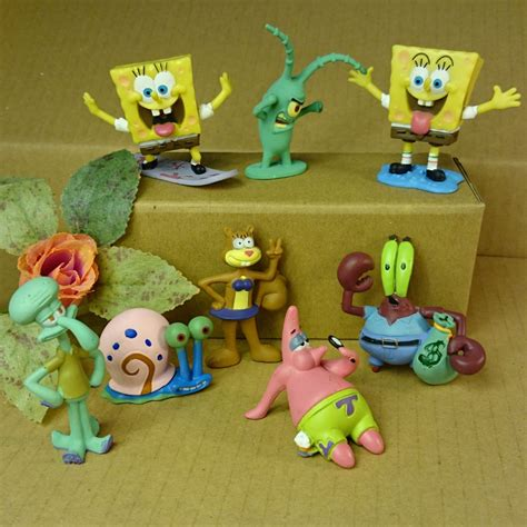 8pcs set aquarium landscaping spongebob aquarium fish tank