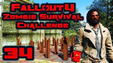 Let's Play Fallout 4 Zombie Survival Challenge  Part 34