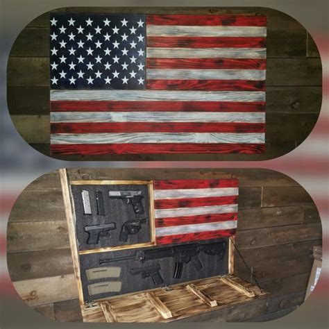 large burnt american red white  blue concealed weapon