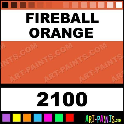 fireball orange fluorescent airbrush spray paints 2100