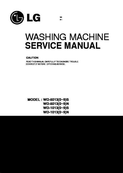 LG WD-80130NNUT, WD-80131NNU Service Manual — View online