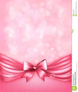 Background with Pink Bow