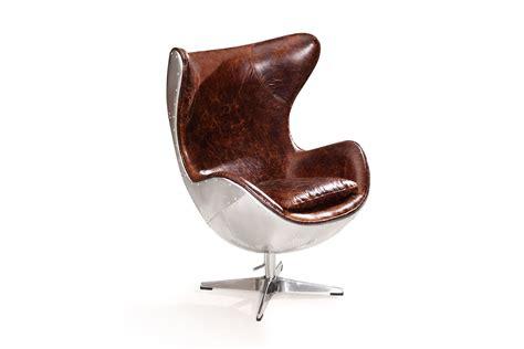 fauteuil oeuf aviateur vintage en cuir et m 233 tal rose moore